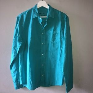 NEW Frank & Eileen LUKE Green Button Front Shirt